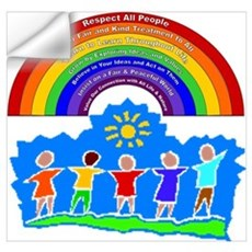 Rainbow Principles Kids Wall Decal
